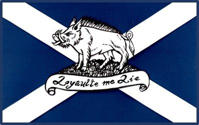 The Boar and Saltire